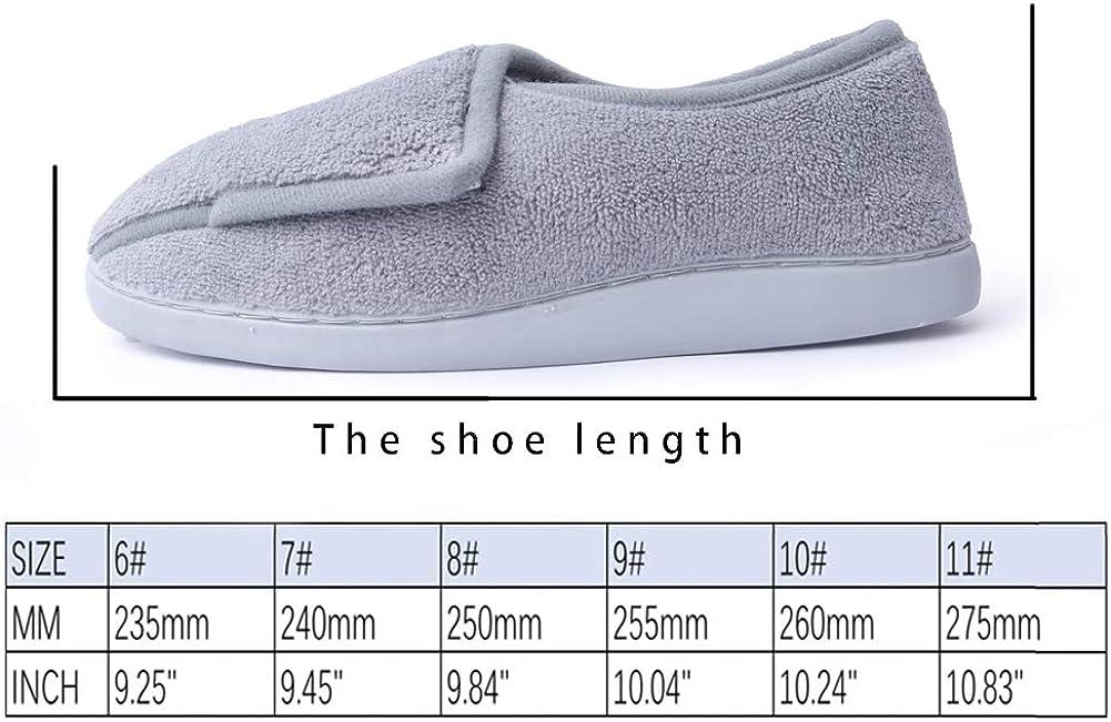 Git-up Women Memory Foam Diabetic Slippers Arthritis Edema Adjustable Comfortable House Shoes Closed Toe