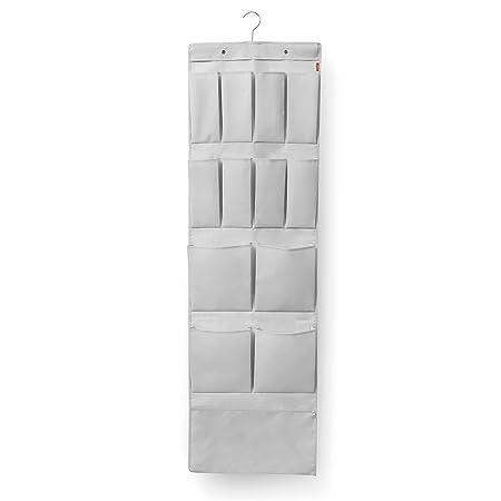 Rayen - Perchero para puerta multiuso. Organizador con gancho para puerta ideal para zapatos, bolsos o pañuelos. 45 x 120-150 cm. Gris Claro