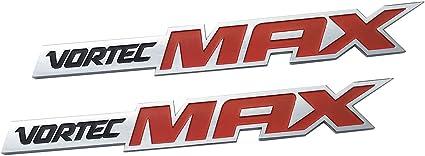 2x Red Vortec Max Door Emblem Badge Plate Band Decal for Chevrolet Silverado