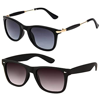 ARZONAI Black Wayfarer Combo Sunglasses for Mens and Womens  Black  Pack of  2  Amazon.in  Clothing   Accessories 9398df49c3