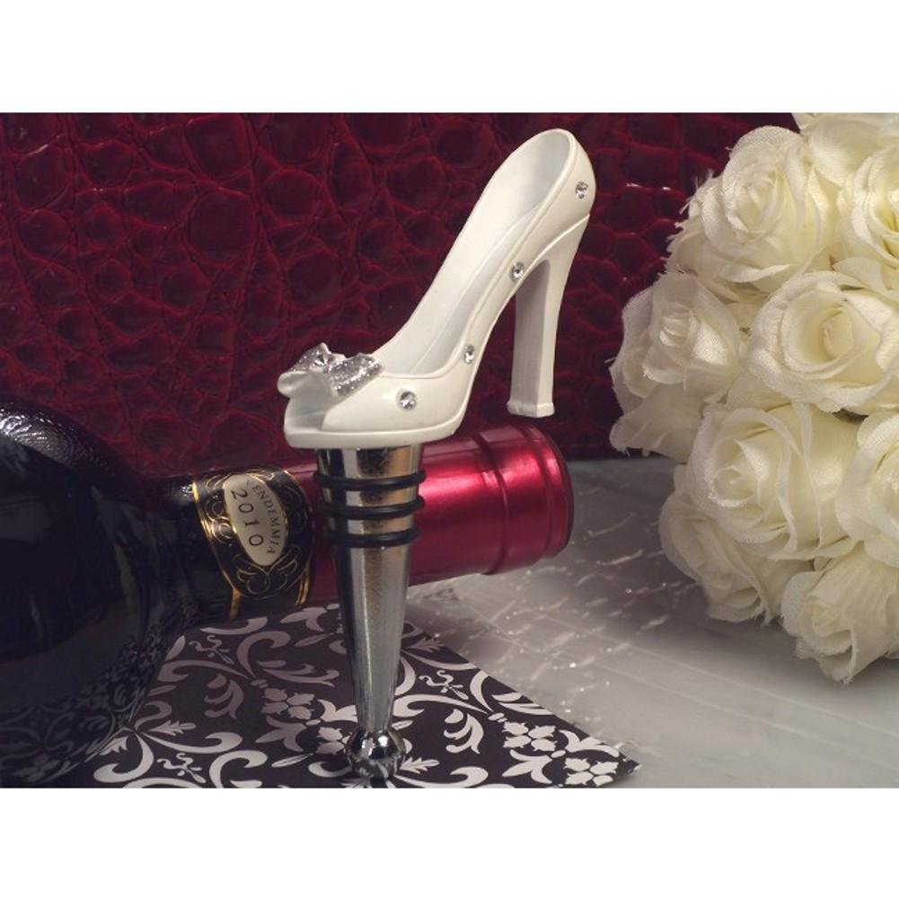 Belle of the Ball Dazzling Shoe Design Bottle Stopper - 36 Pieces