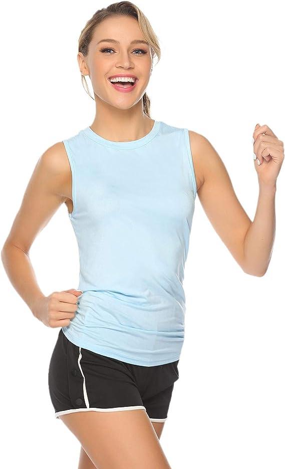 Abollria Camiseta de Tirantes Mujer,Camisetas Chaleco Verano sin ...