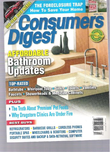 Consumer Digest (Bathroom Updates) (Affordable Bathroom Updates, April 2011)
