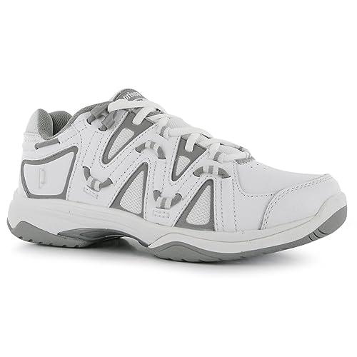 a996f945750 Prince - Zapatillas de Tenis de Piel para Mujer, Color Blanco, Talla 5:  Amazon.es: Zapatos y complementos