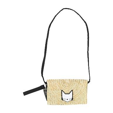 0ac05ce1bc7bc8 Karl Lagerfeld Kids Tasche Clutch Minaudiere Stroh Choupette 14 cm x 20 cm   Amazon.de  Bekleidung