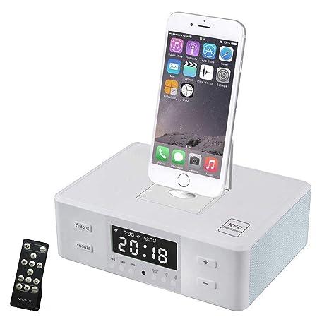 OOLIFENG Despertador Radio FM Bocina Bluetooth con Dormitar ...