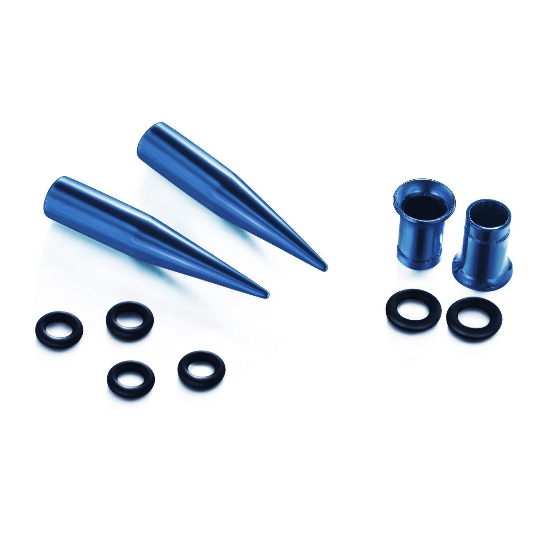 VCMART 14G-00G 36 pcs Ear Gauges Stretching Kit Tapers Plugs Eyelets Implant Grade Steel