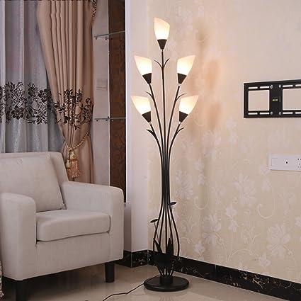 Lily Lampada da Terra Moderna Minimalista in Ferro con 5 lampade ...