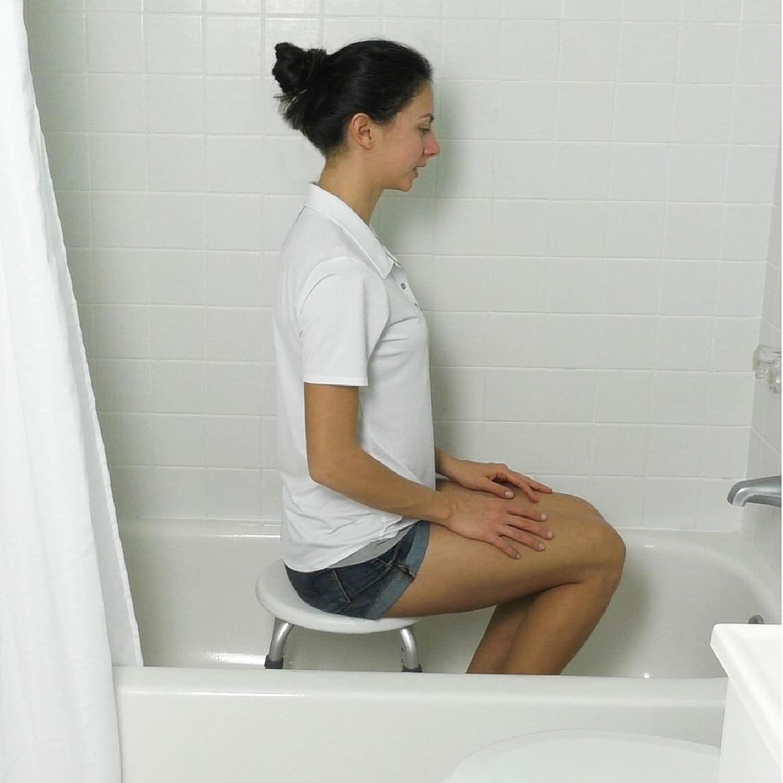 amazon com vive shower stool adjustable bath tub seat for amazon com vive shower stool adjustable bath tub seat for bathroom safety shaving heavy duty lightweight for elderly senior handicap disabled