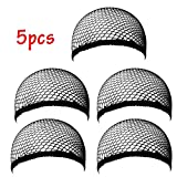 EYX Formula Pack of 5 Neutral Cool Mech Wig Cap Special for Covering Wig,Comfortable Stretch Net Wig Cap DIY Wig Tool for Hair Protected