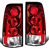 Replacement for Chevy Silverado/GMC Sierra GMT800 Pair of Chrome Housing Altezza Tail Brake Lights