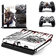 Beyone Vinyl Decal Protective Skin Cover Sticker for Sony PS4 Console And 2 Dualshock Controllers - The Witcher 3: Wild Hunt