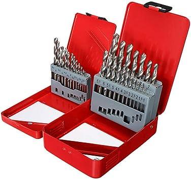 Xueliee 13pcs 1.5-6.5mm / 19pcs 1-10mm HSS Twist Drill Bit Set con estuche para trabajar la madera Sierra Brocas de taladro: Amazon.es: Bricolaje y herramientas