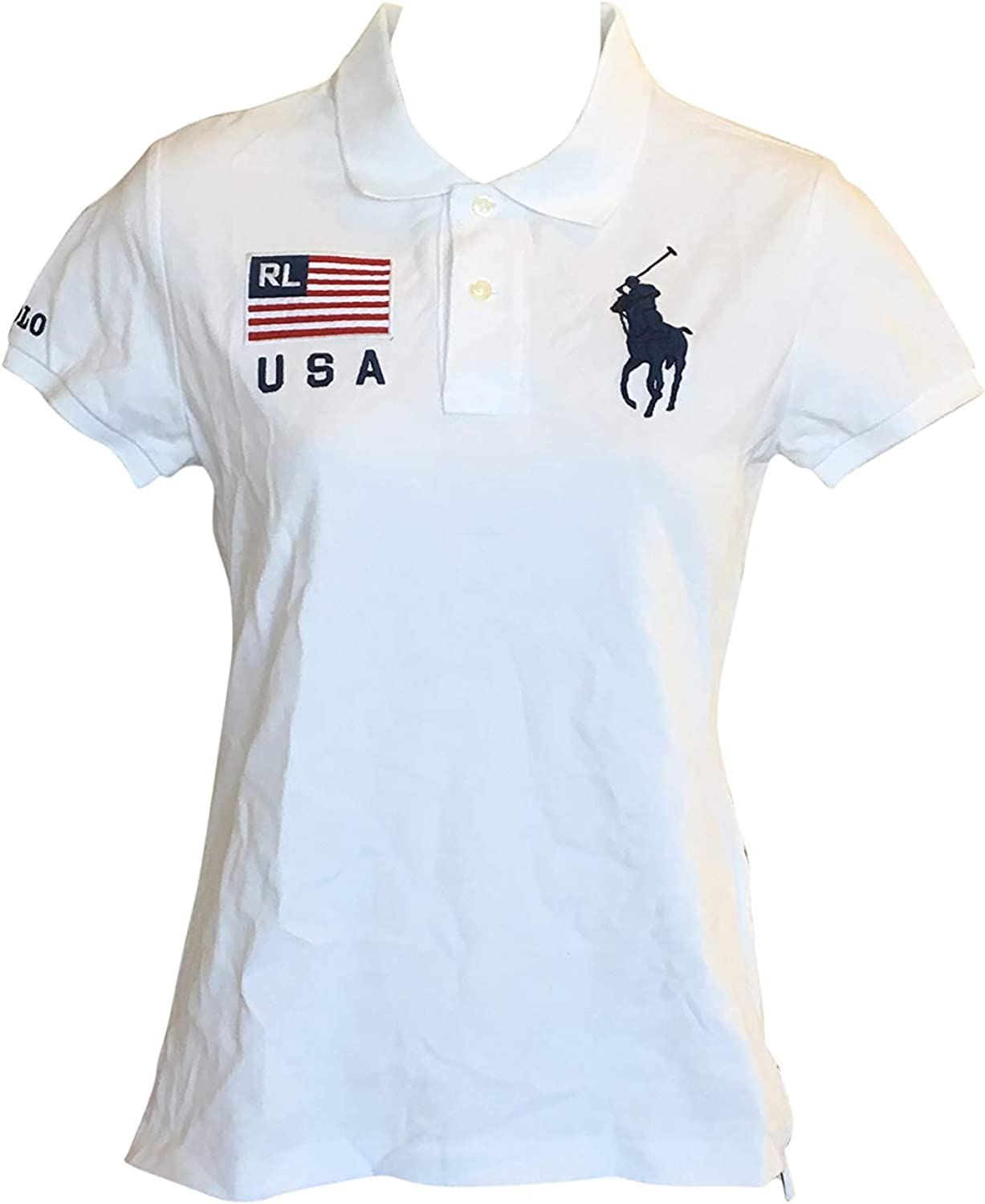 Polo Ralph Lauren Womens Skinny Fit Big Pony USA Polo Shirt