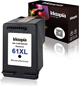 Inktopia Remanufactured Replacement for HP 61XL 61 XL Ink Cartridge High Yield for HP Envy 4500 5530 5534 5535 Deskjet 2540 1000 1010 1512 1510 3050 Officejet 4630 2620 4635 Single Pack (1 Black)