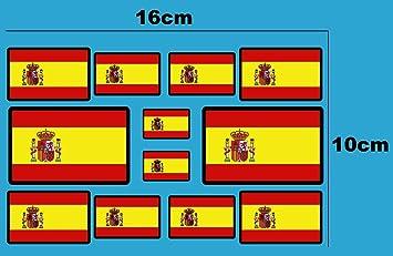 Ecoshirt EN-QS3E-D8CP Pegatinas Banderas De España F207 D Stickers ...