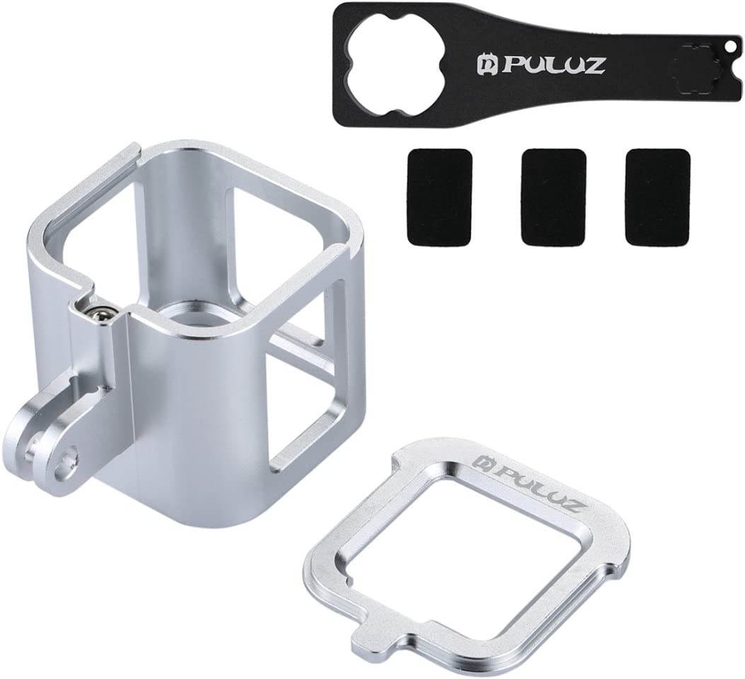 Black Color : Silver for DJI Gopro Action Camera Housing Shell CNC Aluminum Alloy Protective Cage with Insurance Frame for GoPro HERO5 Session //HERO4 Session//Hero Session
