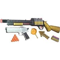 HALO NATION® Sniper Toy Gun (Golden, Big Size, 56 cm) with Laser Target System and Bullets