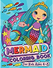 Mermaid Coloring Book: For Kids Ages 4-8 (US Edition)