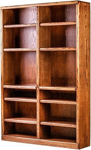 Forest Designs Bullnose Bookcase: 48W X 84H X 13D Spice Alder