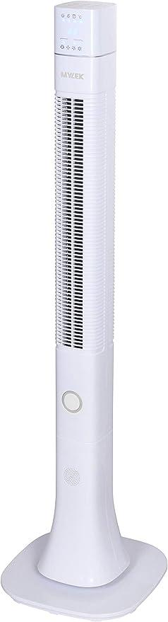 Ventilador de torre oscilante MYLEK® con control remoto, ionizador ...