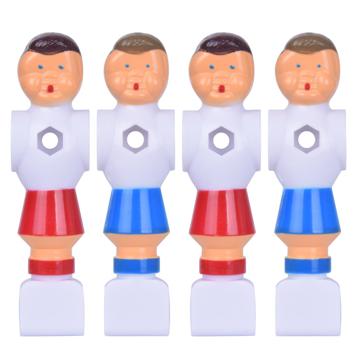 Hotusi 4Pcs Rod Foosball Soccer Table Football Men Player Replacement Parts by Hotusi