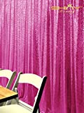 DUOBAO Sequin Backdrop-Hot Pink-20FTx12FT-Twinkle Sequin Curtain/Photography Backdrop~0913S