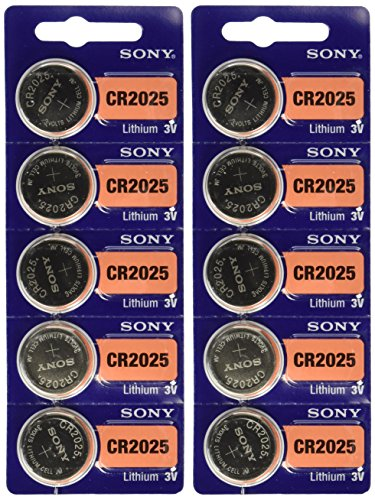 Price comparison product image Sony CR2025 Lithium Battery (10 Pack)