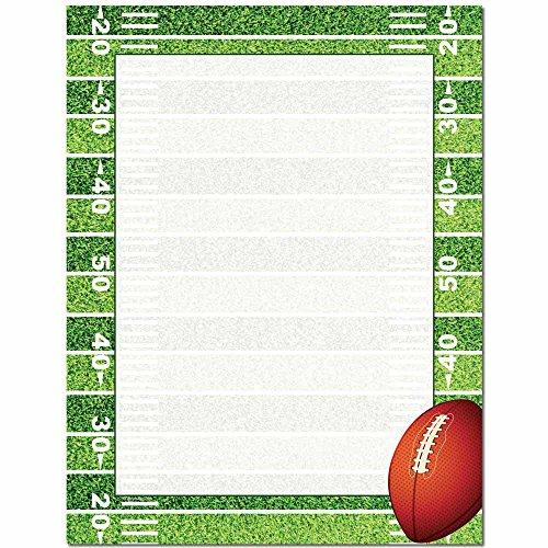 Printer Feet - Football Field Letterhead Laser & Inkjet Printer Paper, 100 pack