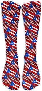UYTGYUHIOJ Puerto Rico Flag 3D Art Pattern Compression Socks Soccer Socks High Socks Long Socks for Running,Medical,Athletic,Edema,Diabetic,Varicose Veins,Travel,Pregnancy,Shin Splints,Nursing.