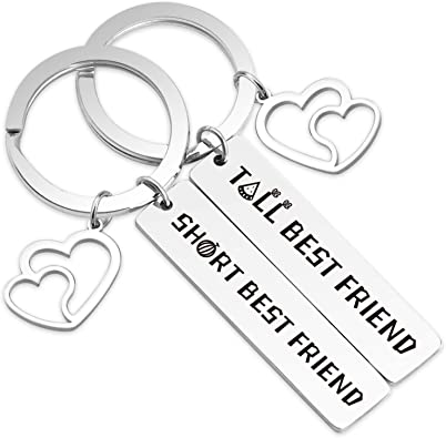 Amazon Com Christmas Gifts Best Friends Matching Gifts Friendship Keychain Tall Best Friend Short Best Friend Bff Friendship Jewelry Gift Birthday Gifts 1225 Tall Short Friend Coukr Clothing
