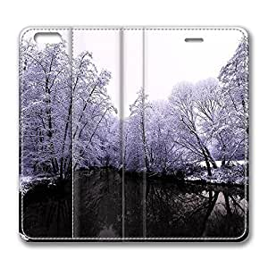 iPhone 6 Leather Case, Personalized Protective Flip Case Cover Winter Scenes 1 for New iPhone 6