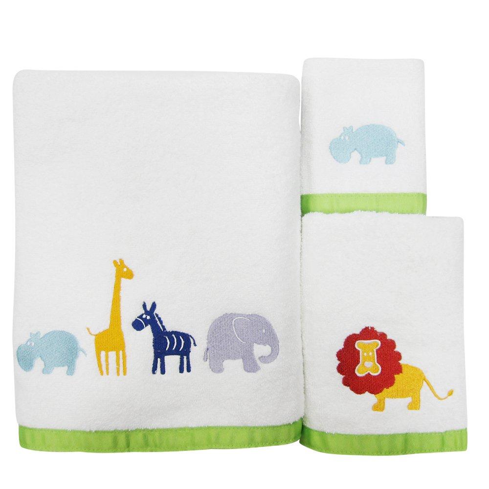 Amazon.com: Allure Home Creations Hippo 100% Cotton 3-Piece Towel ...