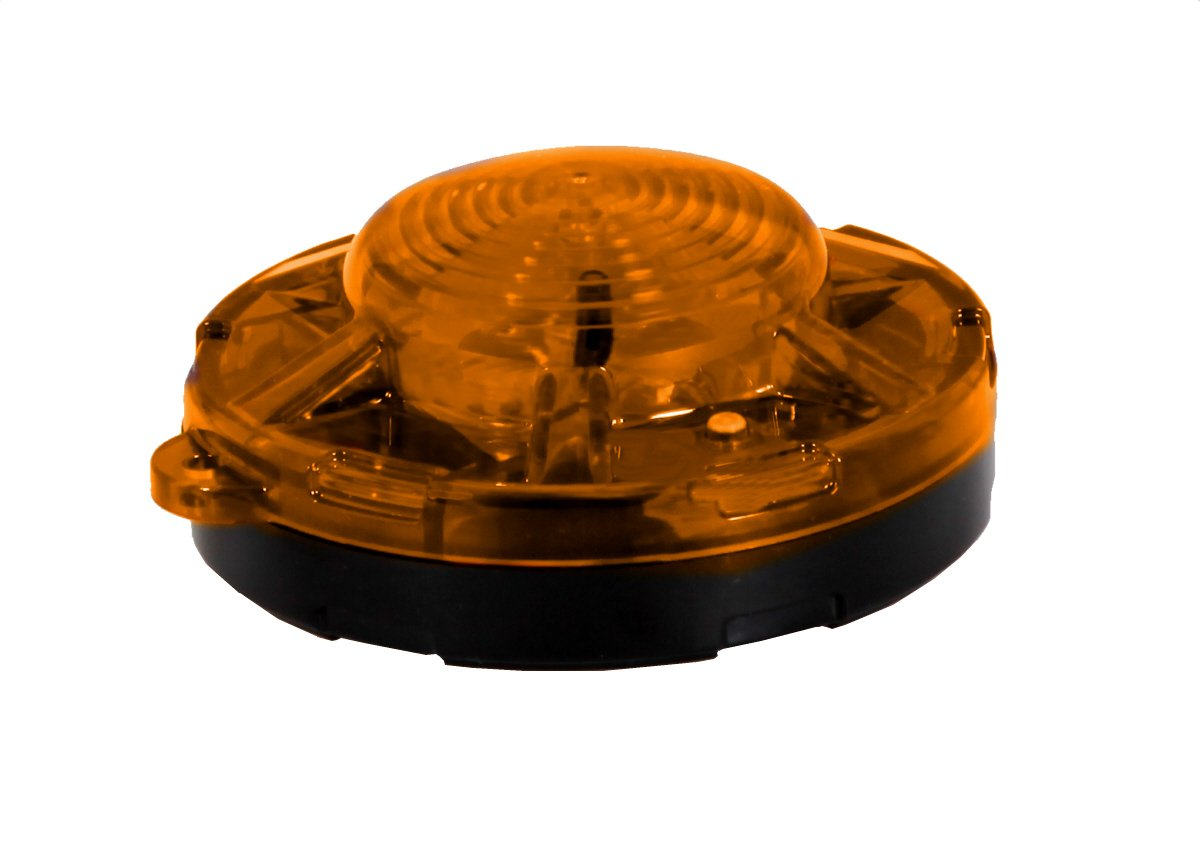 Maxxima SDL-35Y Amber 3.50'' Round LED Battery Operated Emergency Flasher Light by Maxxima