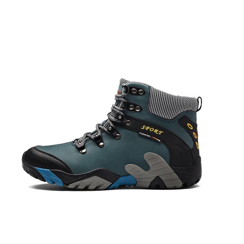 Mslora Herren Hochhaus Stiefel Wasserdicht und Rutschfest Leder halten Schnüren Warm halten Leder Leicht Dauerhaft Schuhe zum Draussen Laufen Reisen Trekking Wandern Klettern 5cf58f