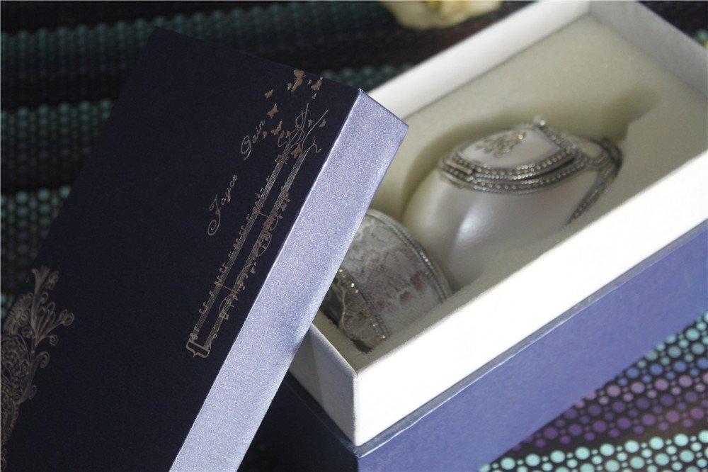 Music Box For Girls Easter Egg Artists Musicbox Eggshell Art Music Box Ballerina Dance Ballet by Biscount (Image #4)