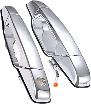 ECCPP Door Handles Chrome Exterior Front Driver Passenger Side for 2007-2013 Chevy GMC Cadillac Pack of 2