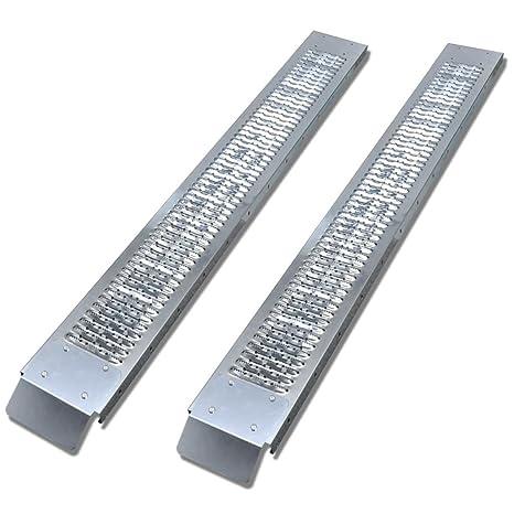 vidaXL Rampas galvanizadas estables y robustas de Carga de Acero para Cargas de 450 kg
