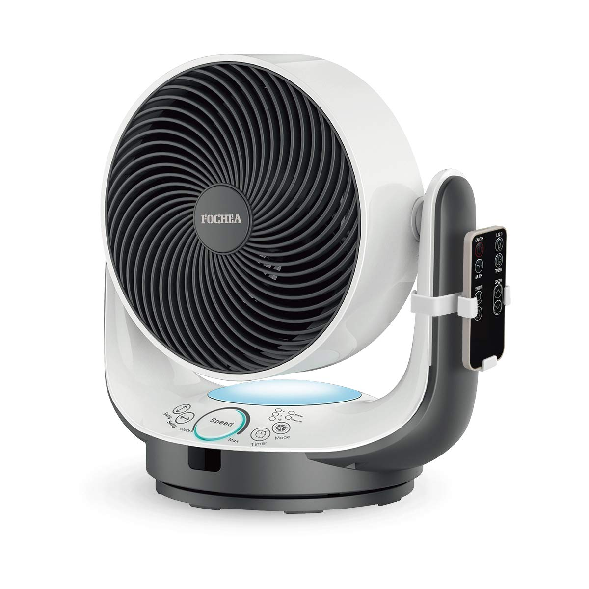 FOCHEA Air Circulator Fan Powerful Oscillating Desk Fan/Table Fan Enhanced Airflow Multi-Mode with Remote Control,8 Speeds Adjustable, 90 Degree Head Swing & 7 Kinds of Timer Setting for Home Office by FOCHEA