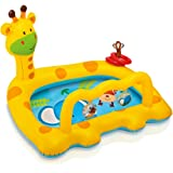 """SWASH Intex Smiley Inflatable Giraffe Baby Pool, 44"""" X 36"""" X 28 1/2"""", For Ages 1-3 - Multi Color"""