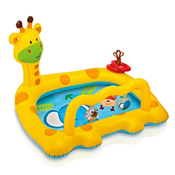 Superior Intex Smiley Giraffe Inflatable Baby Pool, 44 X 36 X 28.5 Inches