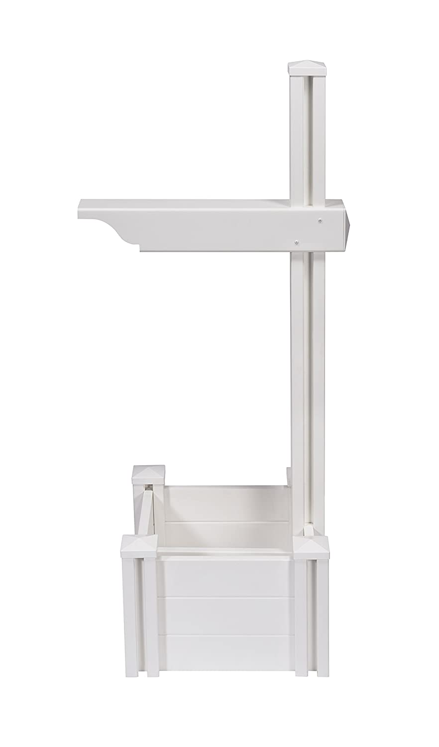 Zippity Outdoor Products ZP19027 Majestic Mailbox Post with No-Dig Steel Pipe Anchor Kit White