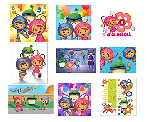 9 Team Umizoomi Stickers, Party Supplies, Favors, gifts,