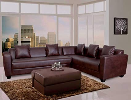 Miraculous Peachtree Kameth Brown Corner Sofa Set Amazon In Home Squirreltailoven Fun Painted Chair Ideas Images Squirreltailovenorg