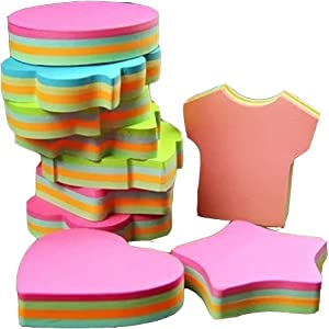 Colorful Sticky Notes in 10 Different Shapes, Separate Packing,Bundle Pack - 10 Pads 100 Sheets Per Pads (1000 Sheets!)