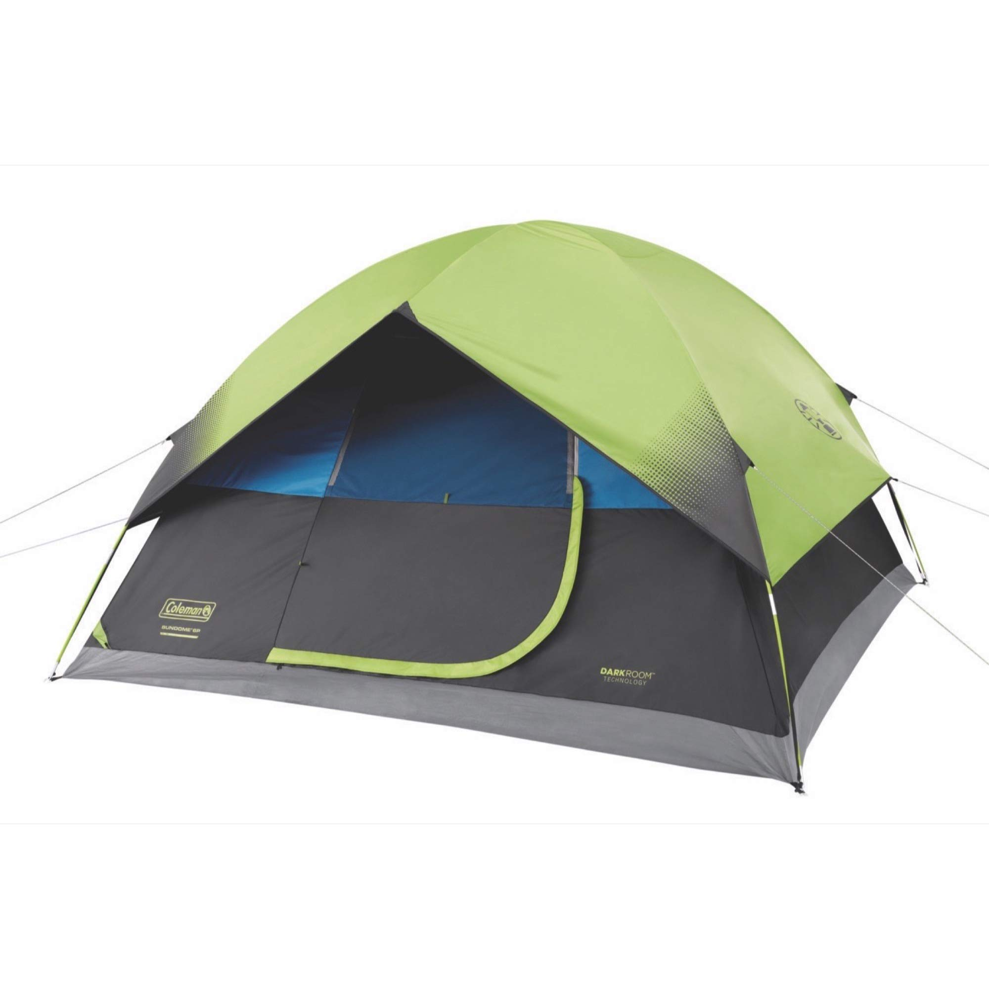 Coleman 6-Person Dark Room Sundome Tent, Green/Black/Teal