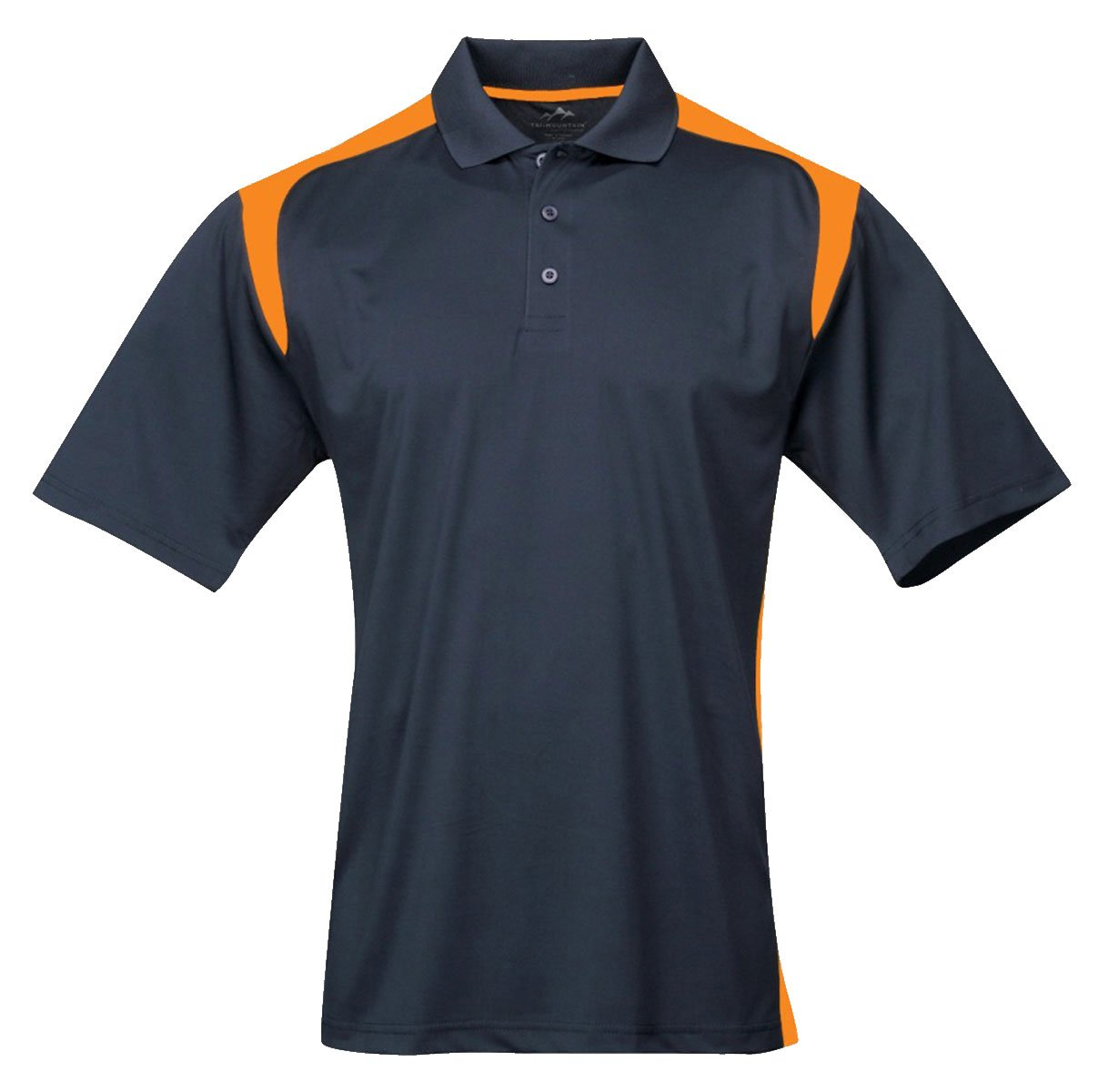Tri-mountain Mens 100% Polyester UC Knit Polo Shirt. 145TM - NAVY / GOLD_XL