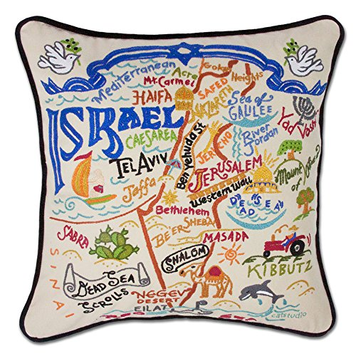 Catstudio Israel Pillow by Catstudio Embroidered Pillow