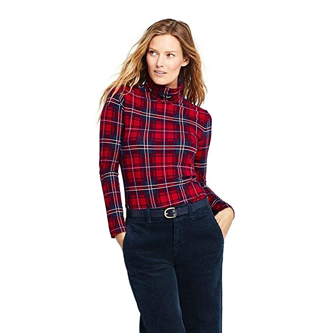 436e454022f662 Image Unavailable. Image not available for. Color  Lands  End Women s  Petite Lightweight Fitted Turtleneck Layering ...