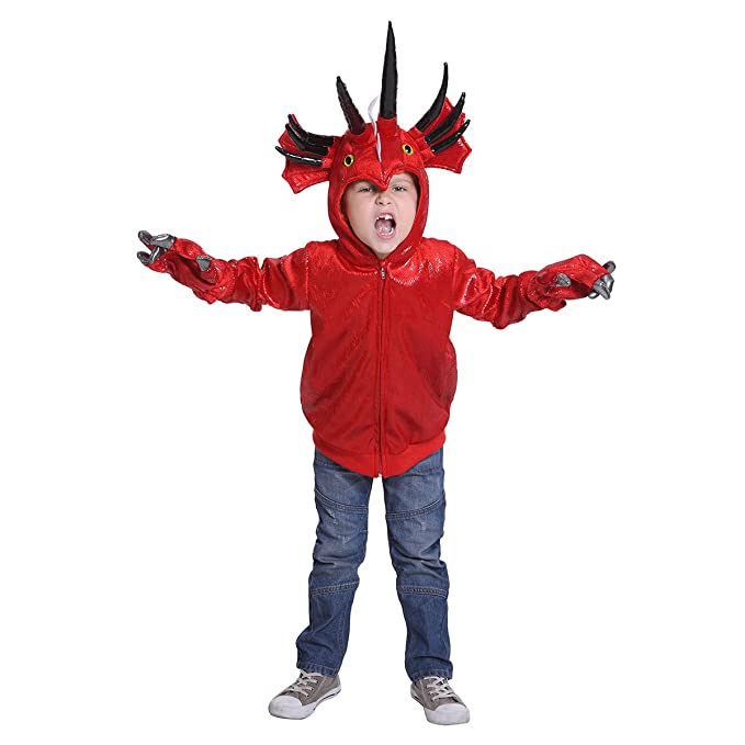 JFEELE Halloween Fiery Dinosaur Costume For Girls And Boys   Perfect  Cosplay U0026 Theme Party Dress